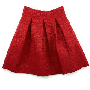 Anthropologie Maeve Scholastic Structured Skirt 8
